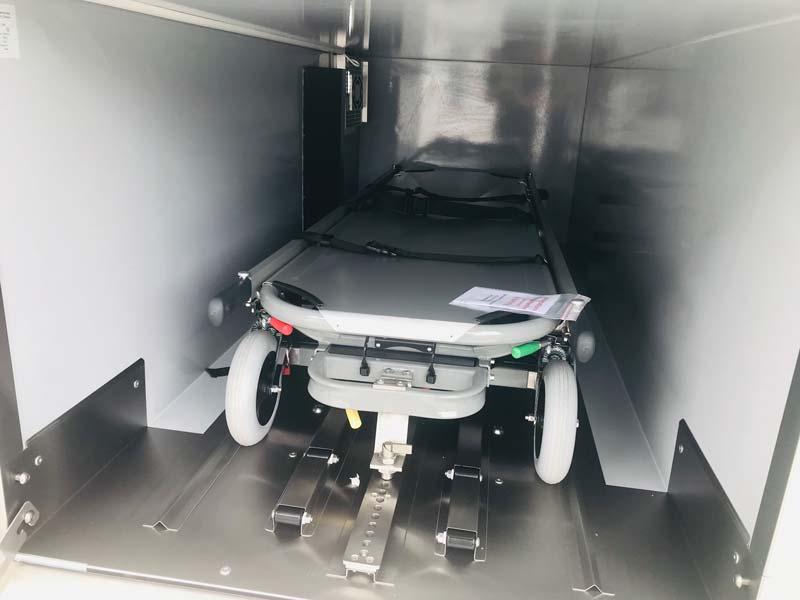 Véhicule funéraire VW caisson illustration
